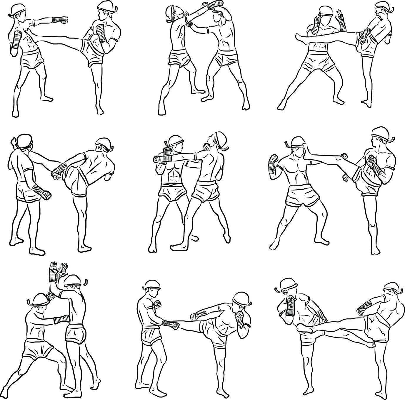 Упражнения для боксеров в картинках