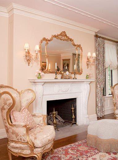 Living Room Decor With Louis Xv Mirror  Luxury Interiors Classy Decorative Mirrors Dining Room Inspiration