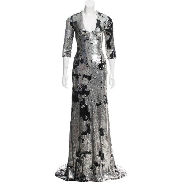Pre-owned Ralph Rucci Sequin Short Sleeve Gown (2 425 AUD ...