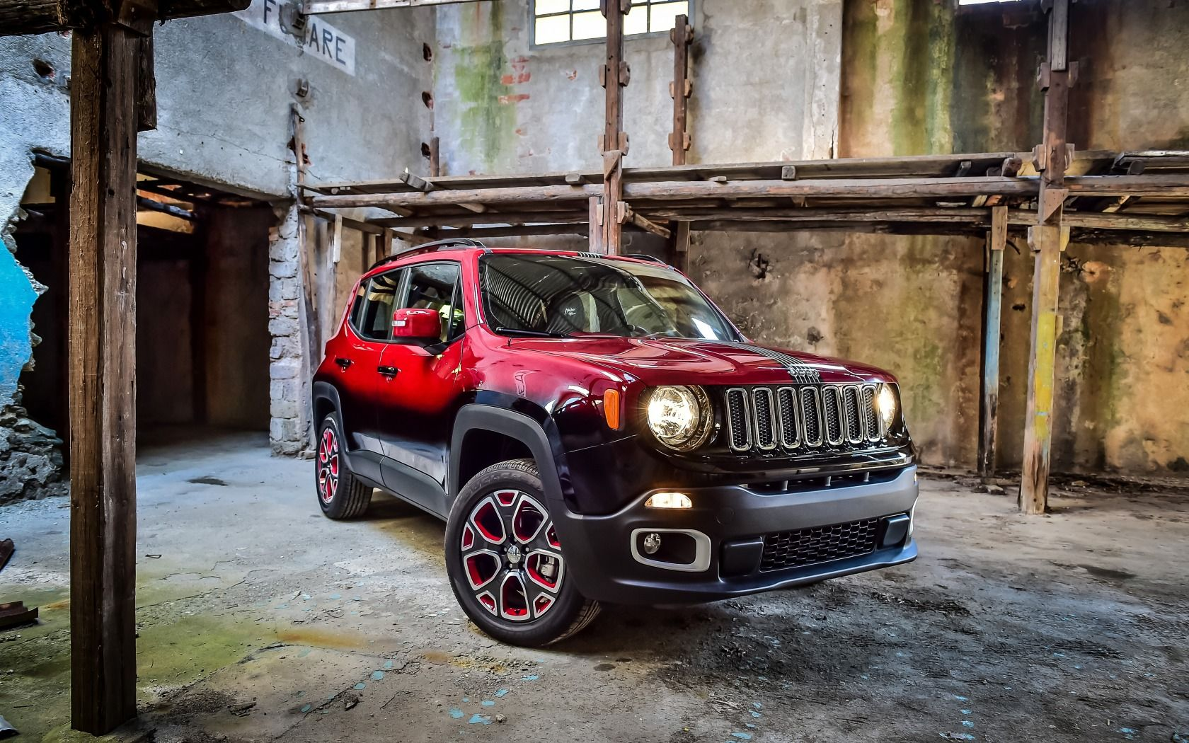 Download Wallpaper 2015 Jeep Renegade Montreux Jazz Festival Showcar Jeep Resolution 1680x1050 Jeep Renegade Jeep Red Jeep