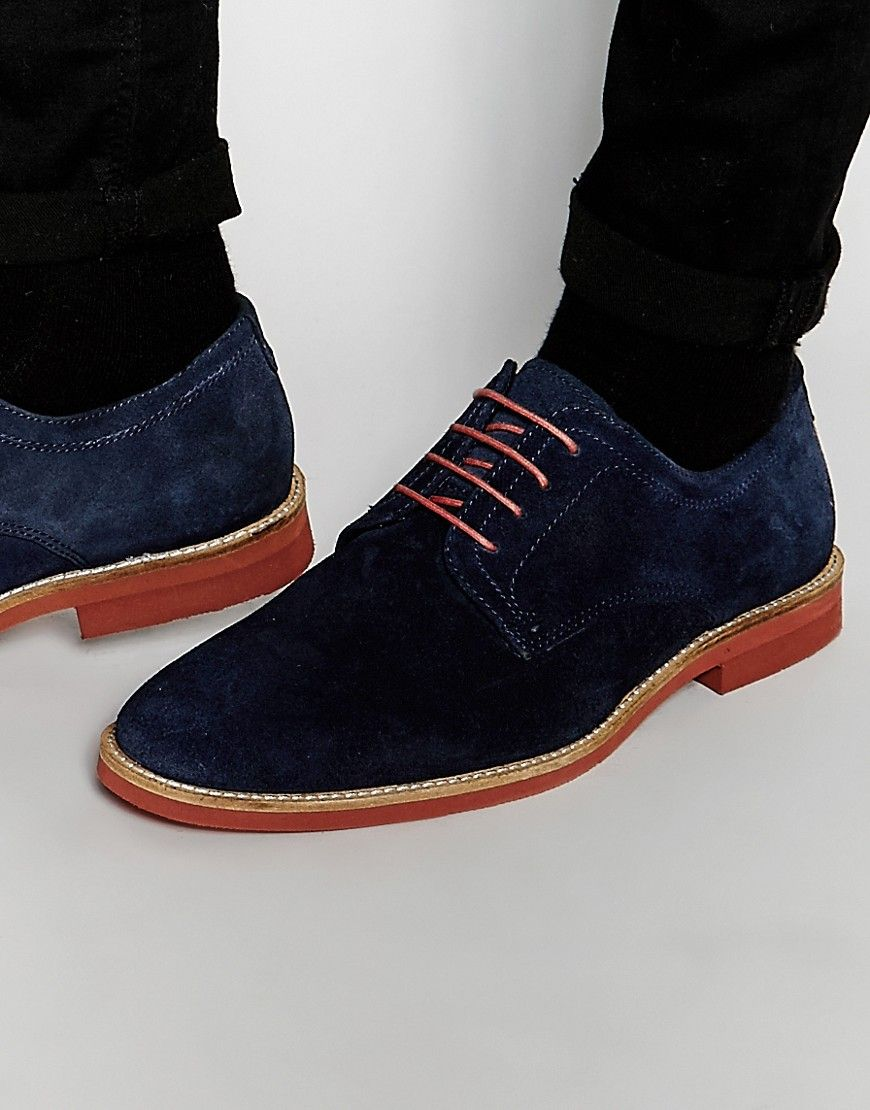 20ed5337257 Red Tape Derby Shoes In Navy Suede - Blue
