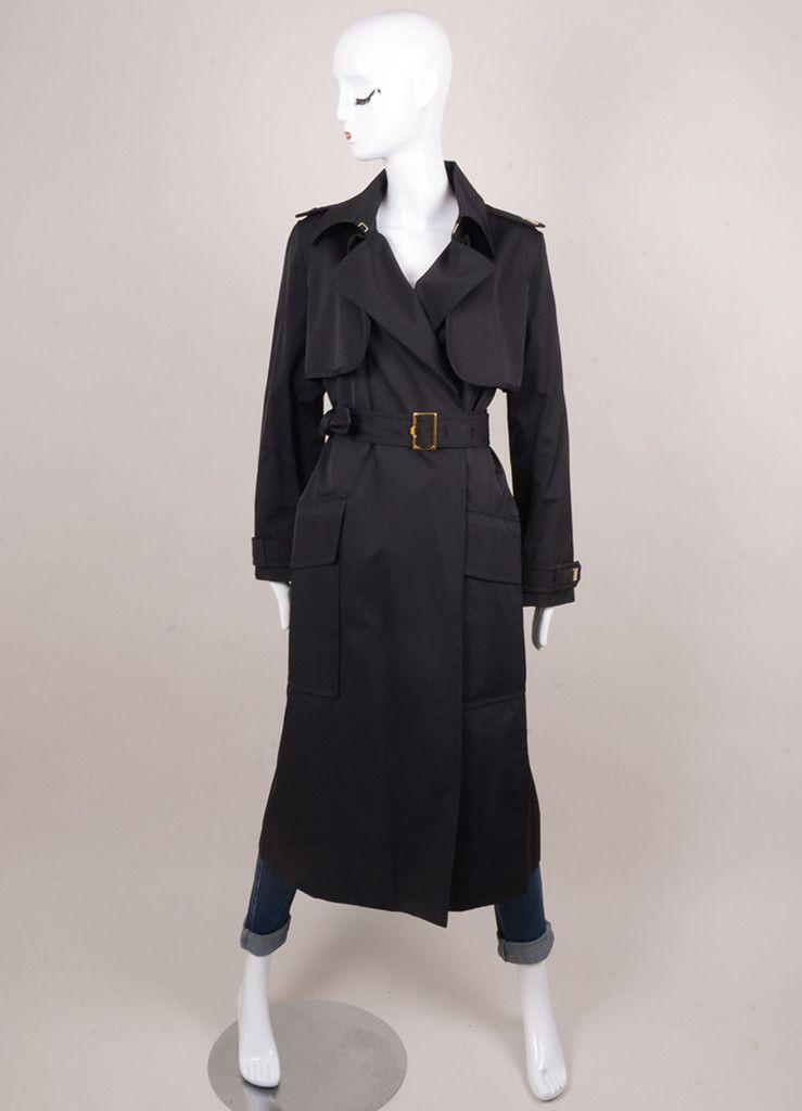 Yves Saint Laurent  Long Belted Trench Coat – Luxury Garage Sale