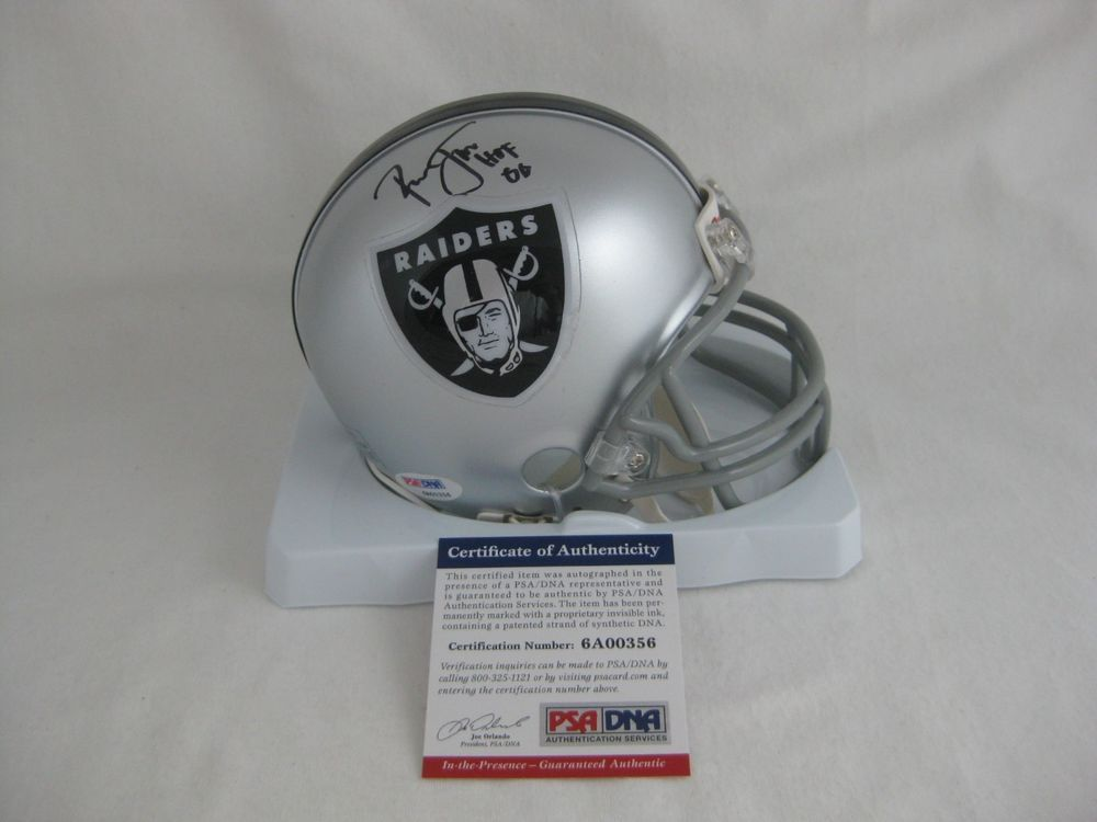 purchase cheap acff7 6b63d RONNIE LOTT signed/autographed OAKLAND RAIDERS Riddell Mini ...