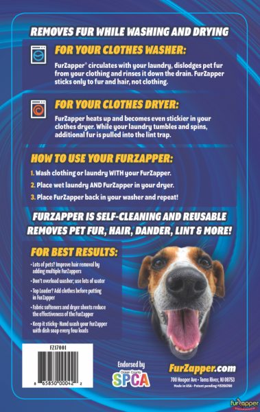 Gallery Furzapper Pet Hair Remover Zaps Fur Off Your Laundry Can Dogs Eat Blueberries Pet Insurance Reviews Dog Remedies