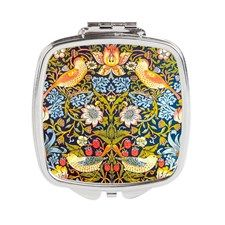 Strawberry thief Square Compact Mirror for