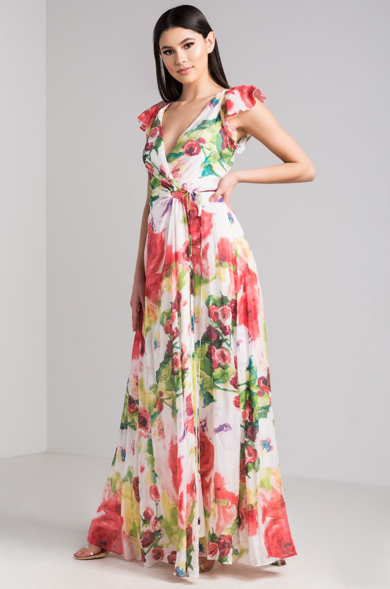 One for your money the akira label presley floral maxi dress is a