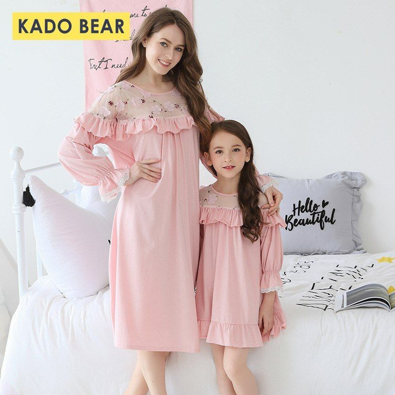 082ef807ef439 2019 Family Look Baby Girl Nightgown Mom Mother Daughter Dresses ...