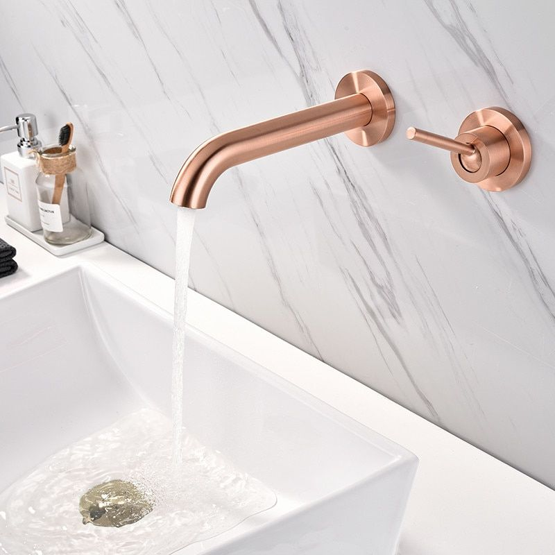 Cheap Basin Faucets Buy Directly From China Suppliers Basin Faucet Wall Mounted Rose Gold Matte Single Handle Sink Faucets Bathroom Basin Basin Sink Bathroom