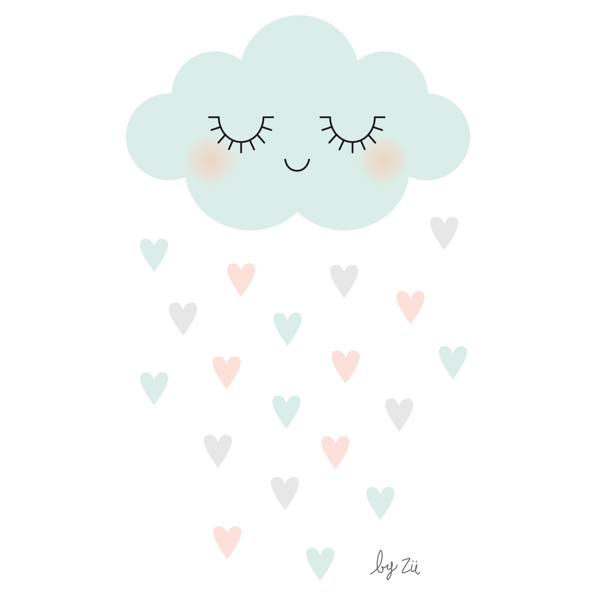 Wall Murals For Baby Rooms Cloud Amp Raining Hearts Clouds Pinterest Cloud