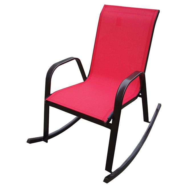 Chaise Bercante De Patio Rouge Outdoor Chairs Chair Rocking Chair