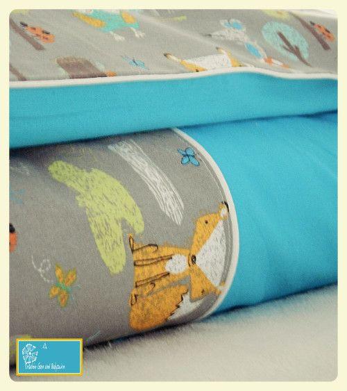 Bettwäsche einfach selbstgenäht aus Baumwolle