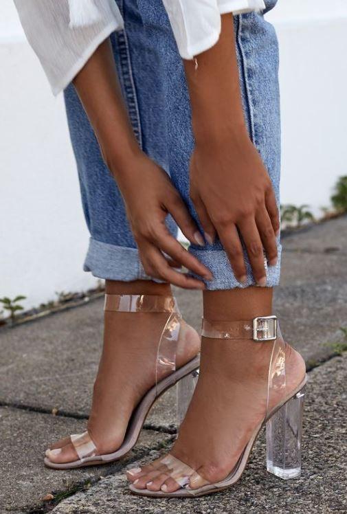 Block heels outfit, Block heel shoes
