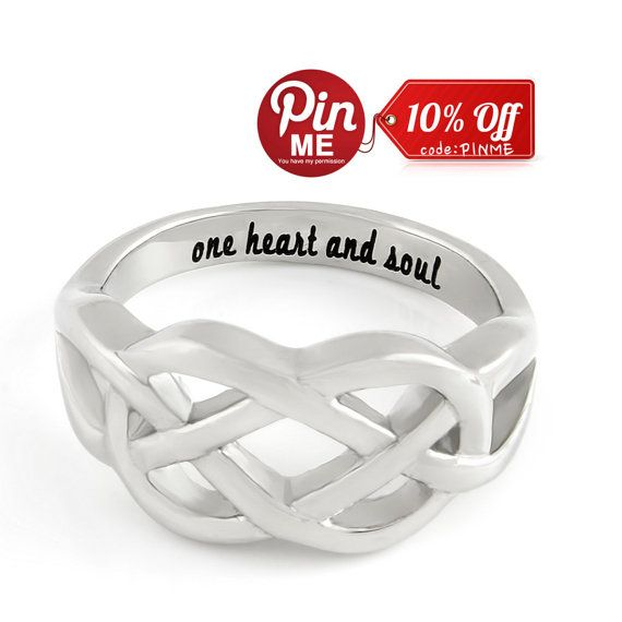 Infinity Ring Promise Ring Infinity Symbol Ring One Heart And Soul