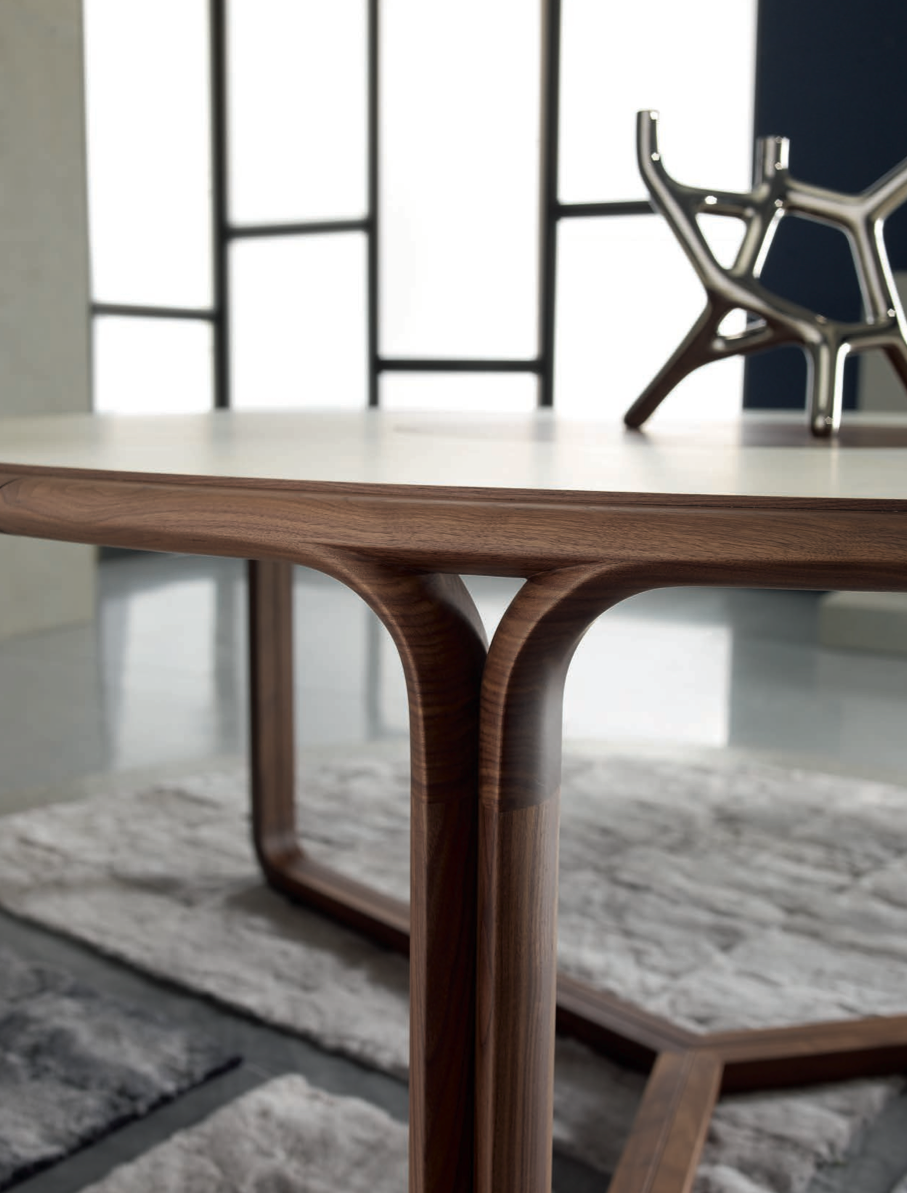 Big Doom Round Dining Table Materials Solid American Walnut