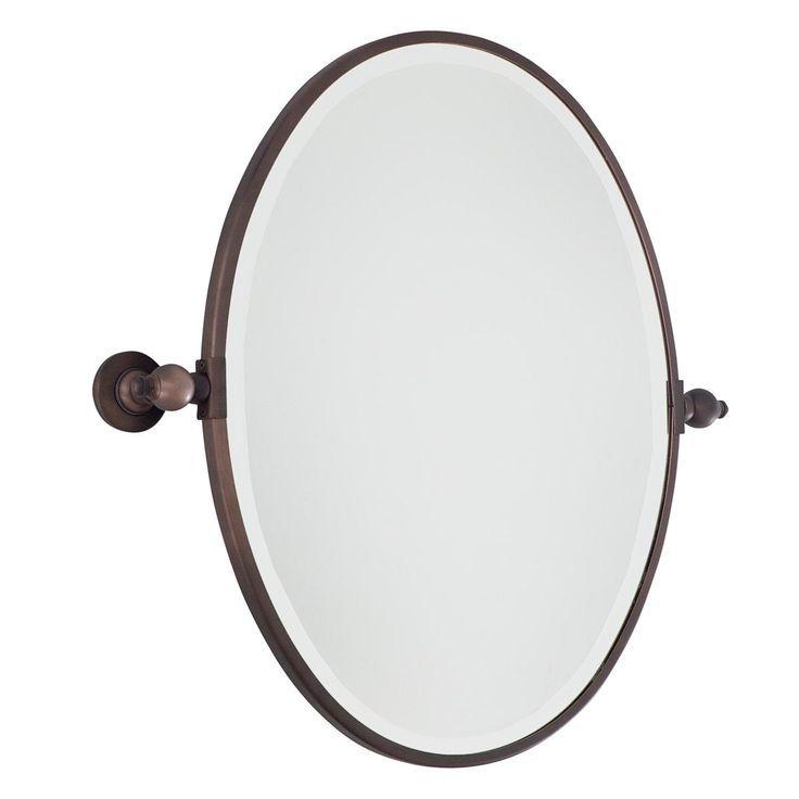 Bathroom Mirrors That Tilt Oval Mirror Chrome 2 For S Bath