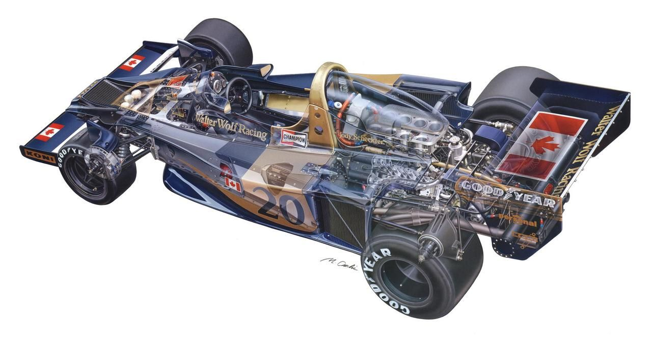 Wolf Wr1 By Makoto Ouchi Postimage Org Super Cars Race Cars Technical Illustration