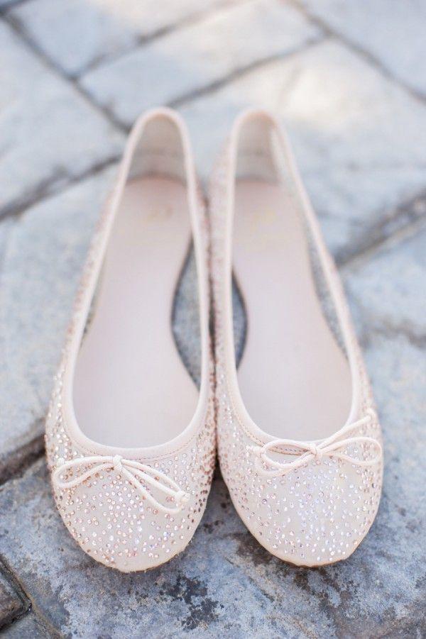 Bezaubernde flache Brautschuhe | Schuhe hochzeit