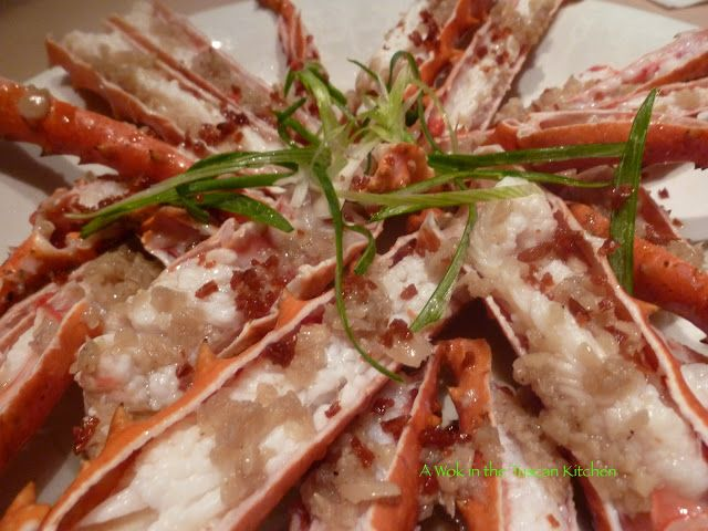 Alaskan King Crab Part 2 Recipe 1 Steamed With Garlic Sauce Chinese Style Just Like Your Favorite Alaskan King Crab King Crab Recipe Cooking Seafood