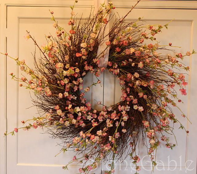 Cherry Blossom Wreath, perfect for Spring front door