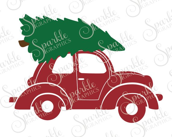 Christmas Tree Car SVG Christmas Tree Truck Vehicle | Etsy in 2020