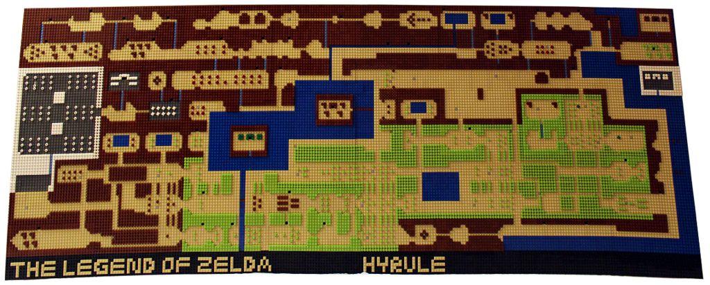 Legend of Zelda Hyrule Map in Lego