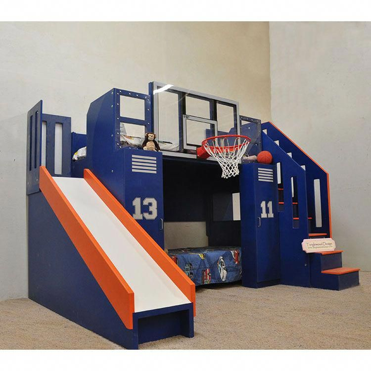 Ultimate Basketball Bunk Bed, Children\u0027s Indoor Playhouse, NBA Sized