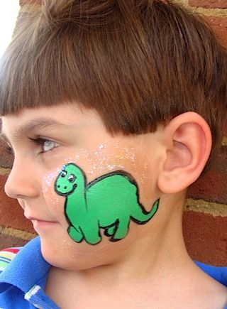 Face Painting Dinosaur Google Search Church Dinosaur Face
