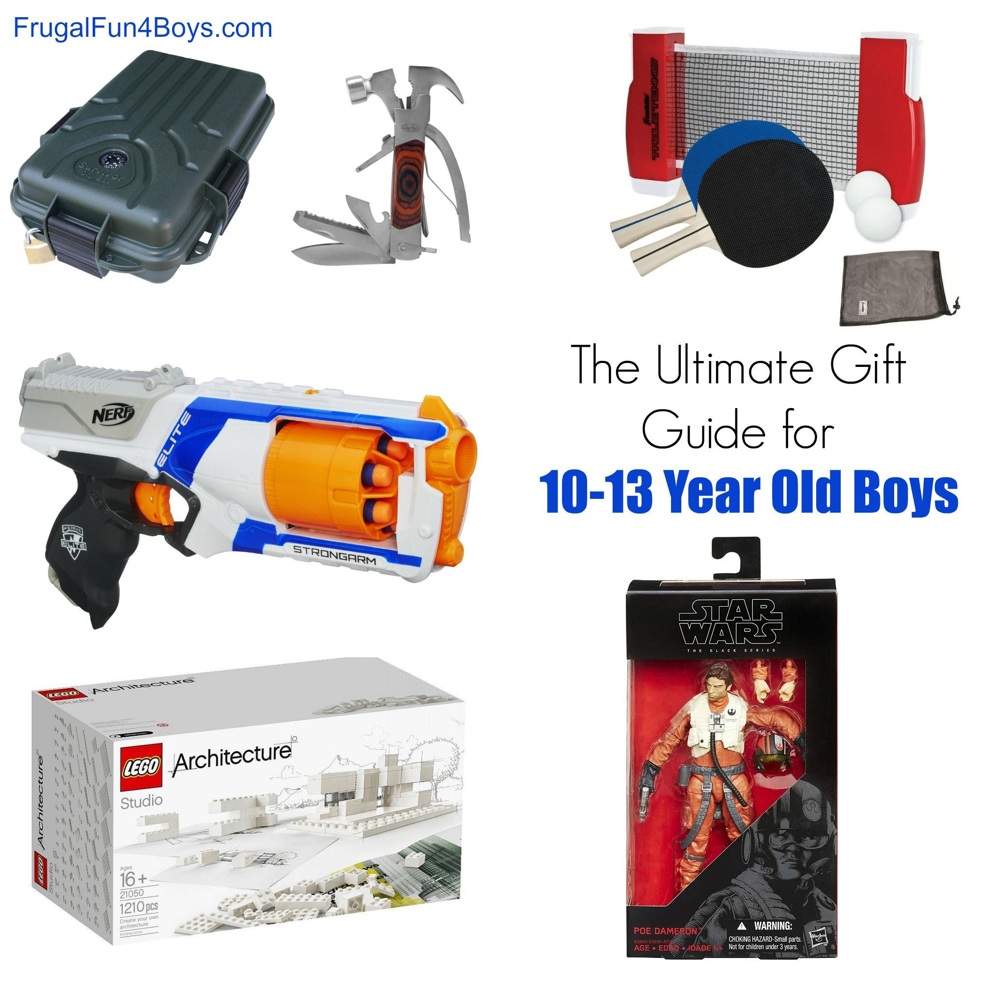 Gift Ideas for 10 to 13 Year Old Boys | Christmas | Pinterest ...