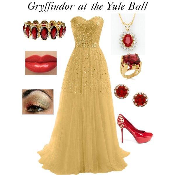 Gryffindor at the Yule Ball | prom | Pinterest | Abendmode