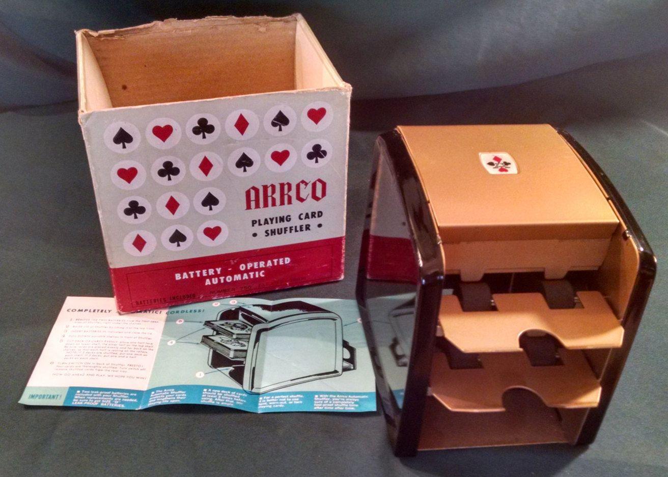 Vintage 1960 S Arrco Playing Card Shuffler No 750 Card Etsy Cards Playing Cards Vintage Office