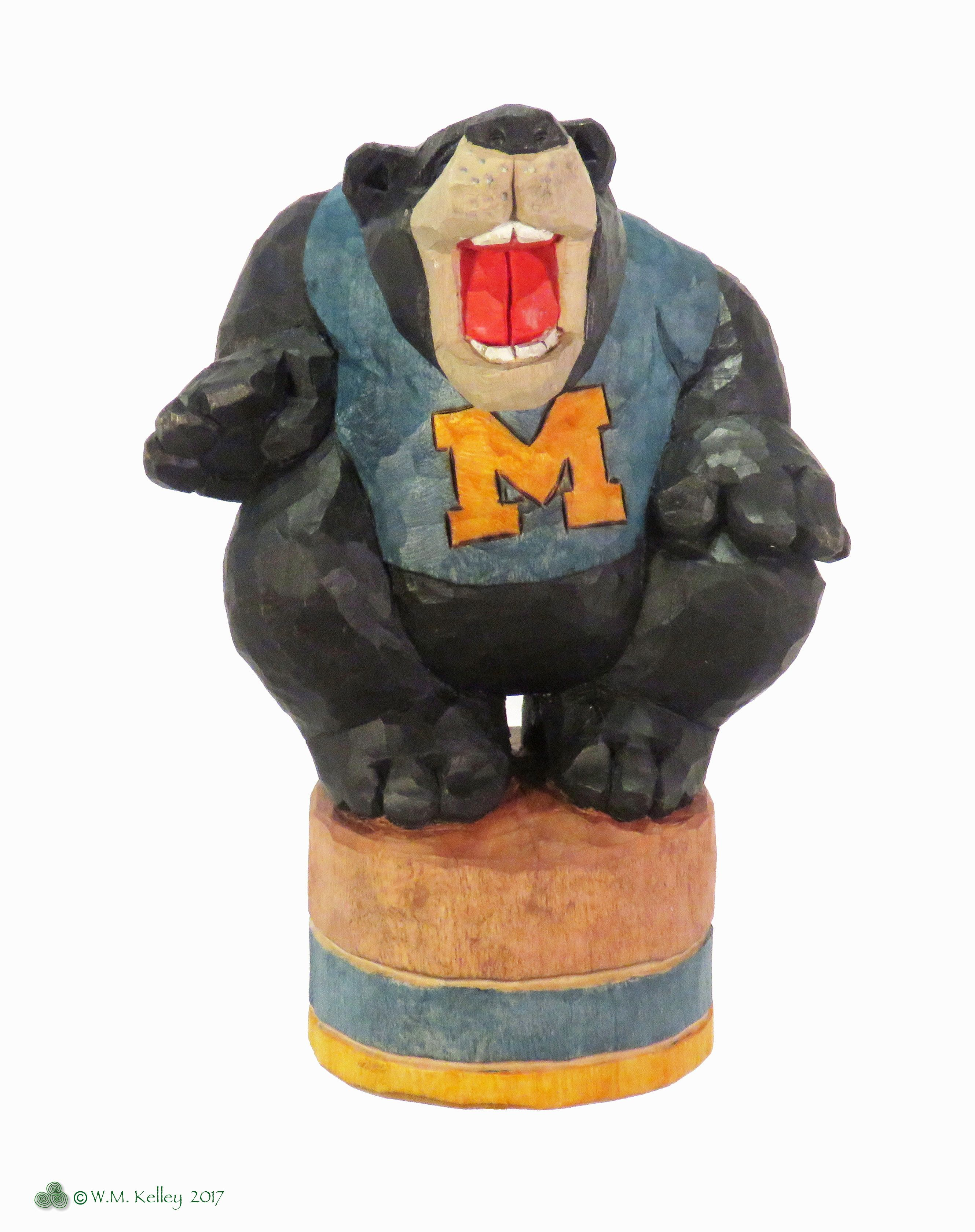 Michigan Black Bear, from Rich Wetherbee rough out, carved