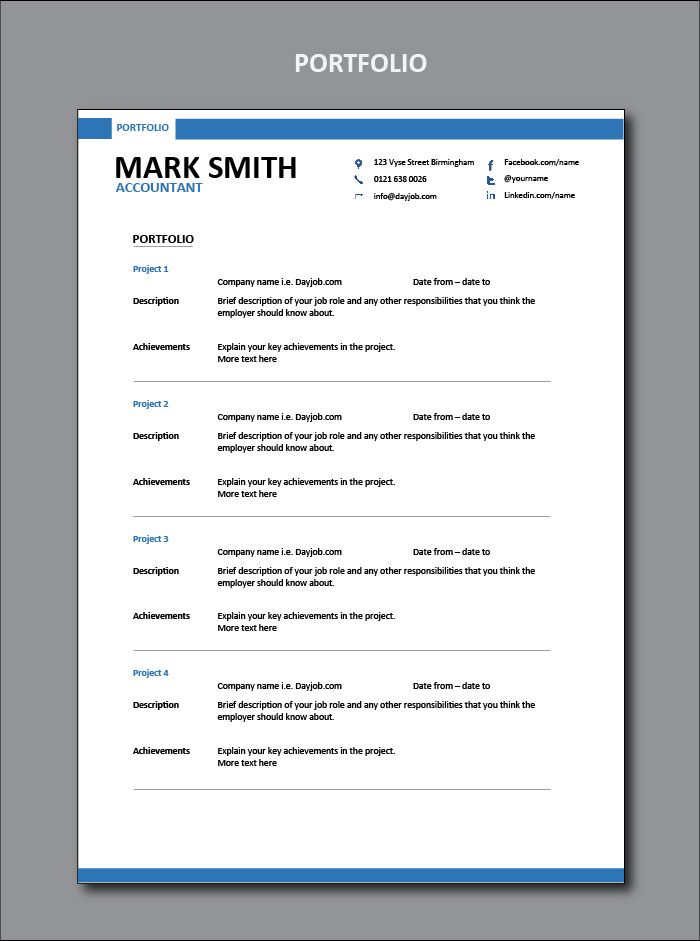 How To Write Out A Resume Custom This Shows You How To Write Out Your Portfolio For An Accountant .