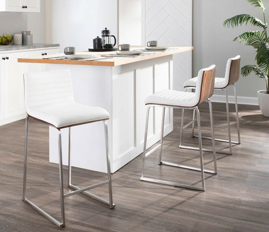 Wade Logan Yvette 26 Bar Stool Wayfair In 2020 Bar Stools Kitchen Fixtures Bars For Home