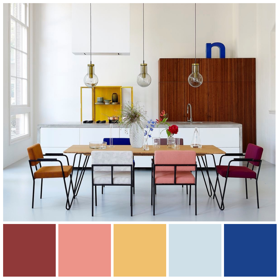 bedroom color schemes case plus | Split Complementary colour scheme featuring blue plus dark ...