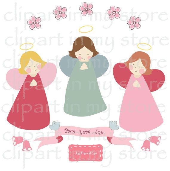 Christmas clip art images, Christmas clipart, angel clipart,ribbon clipart, bell clipart Instant Download