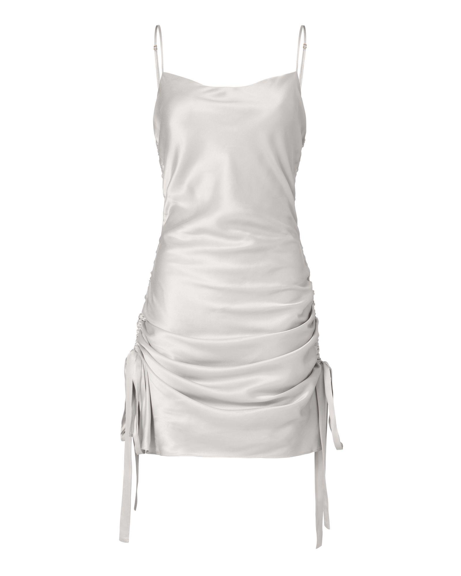Ruched Slip Mini Dress Mini Dress Fashion Mini Slip Dress [ 2000 x 1601 Pixel ]