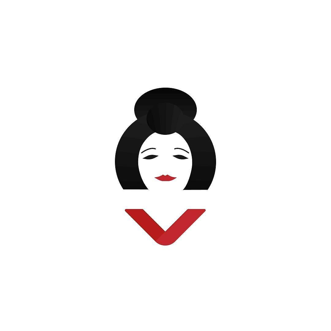 The Geisha - White background version . . . . #dribbble #dribbbleinvite #graphicdesign #logo #icon #illustration #behance #colors #design #iconaday #graphicgang #dribbbleshot #dribbblers #geisha #japan #minimalism by michellpazz