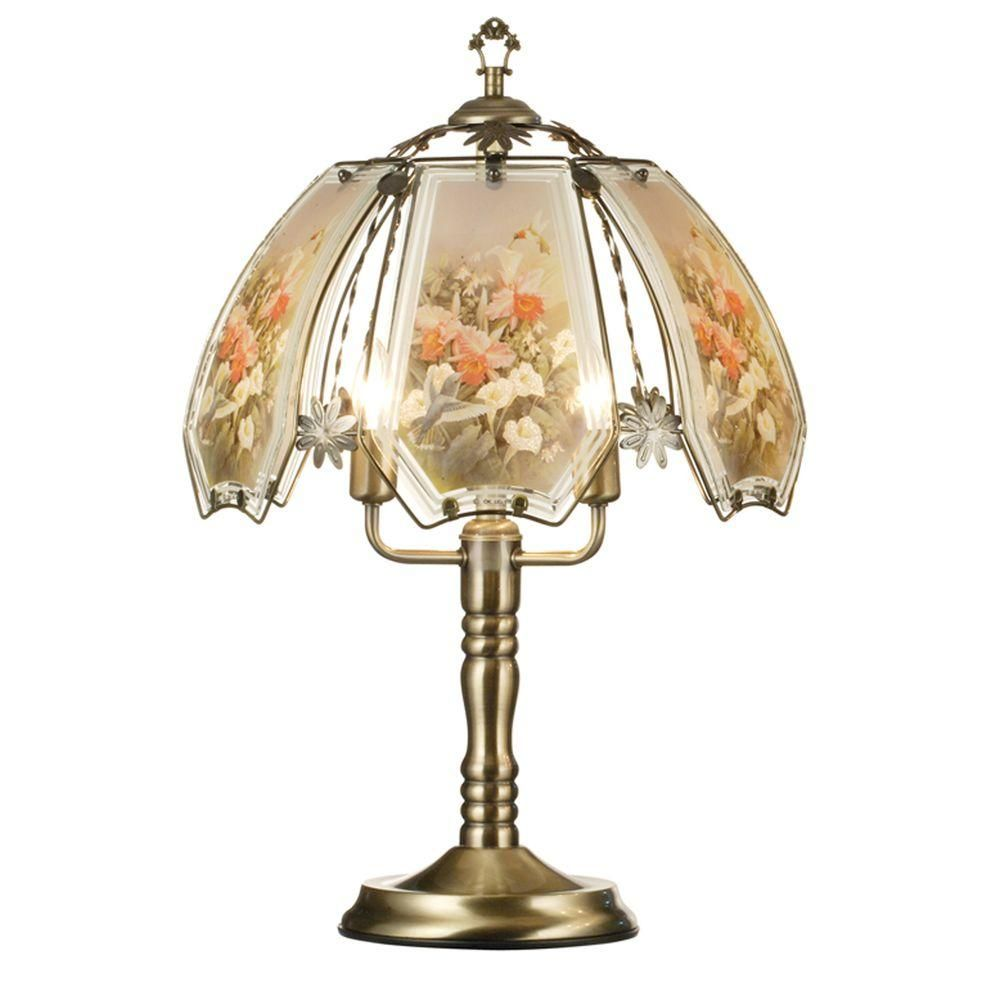 Ore International 23 5 In Hummingbird Brushed Gold Touch Lamp K307 The Home Depot In 2020 Touch Lamp Touch Table Lamps Lamp