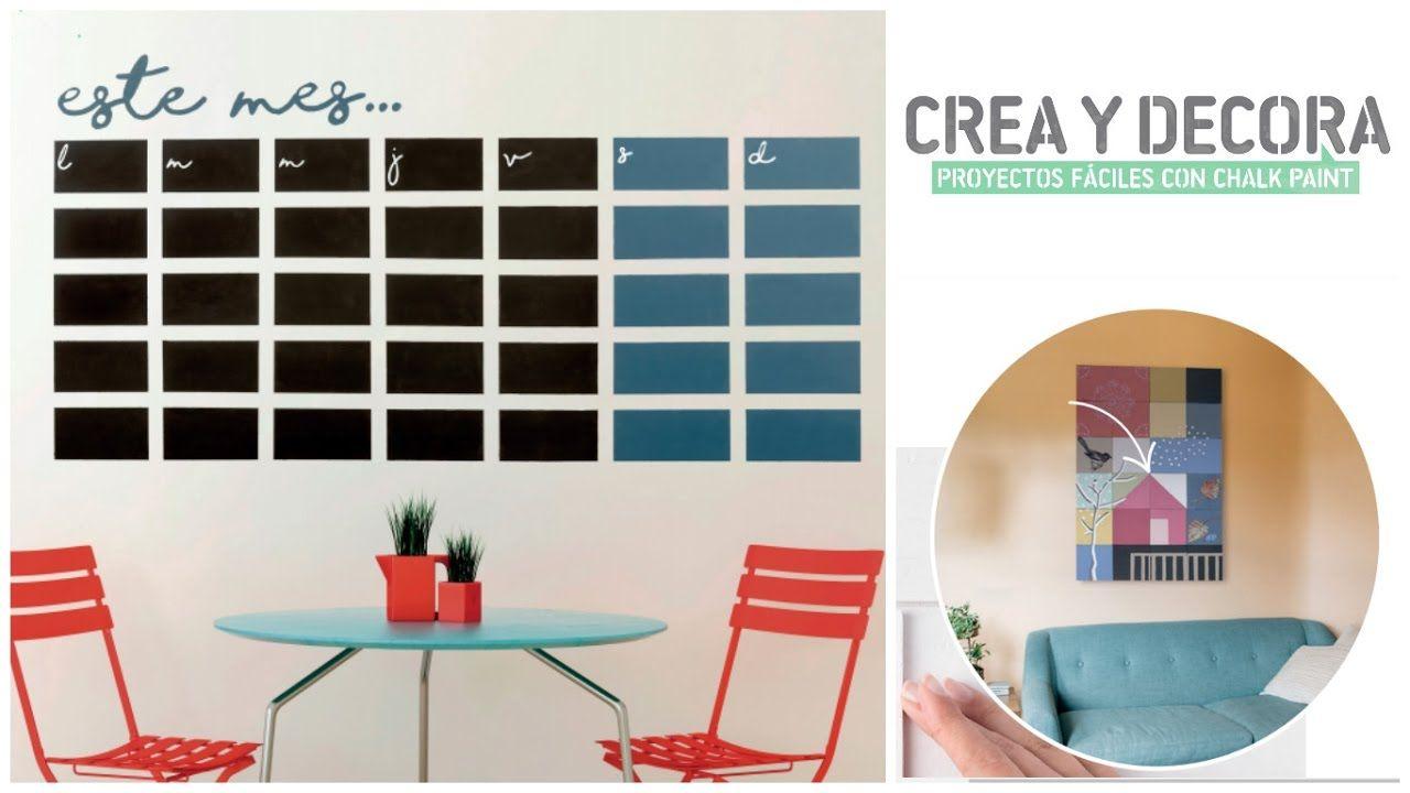 Como Hacer Un Calendario De Pizarra Con Chalk Paint Y Stencil Casero I Calendario De Pizarra Accesorios Para El Hogar Hacer Calendarios