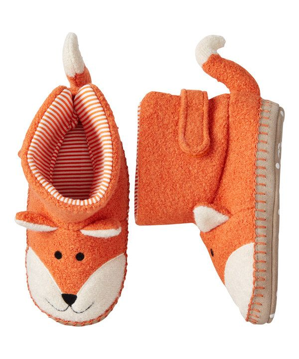 Look at this Hanna Andersson Orange Fox Slippers on #zulily today!