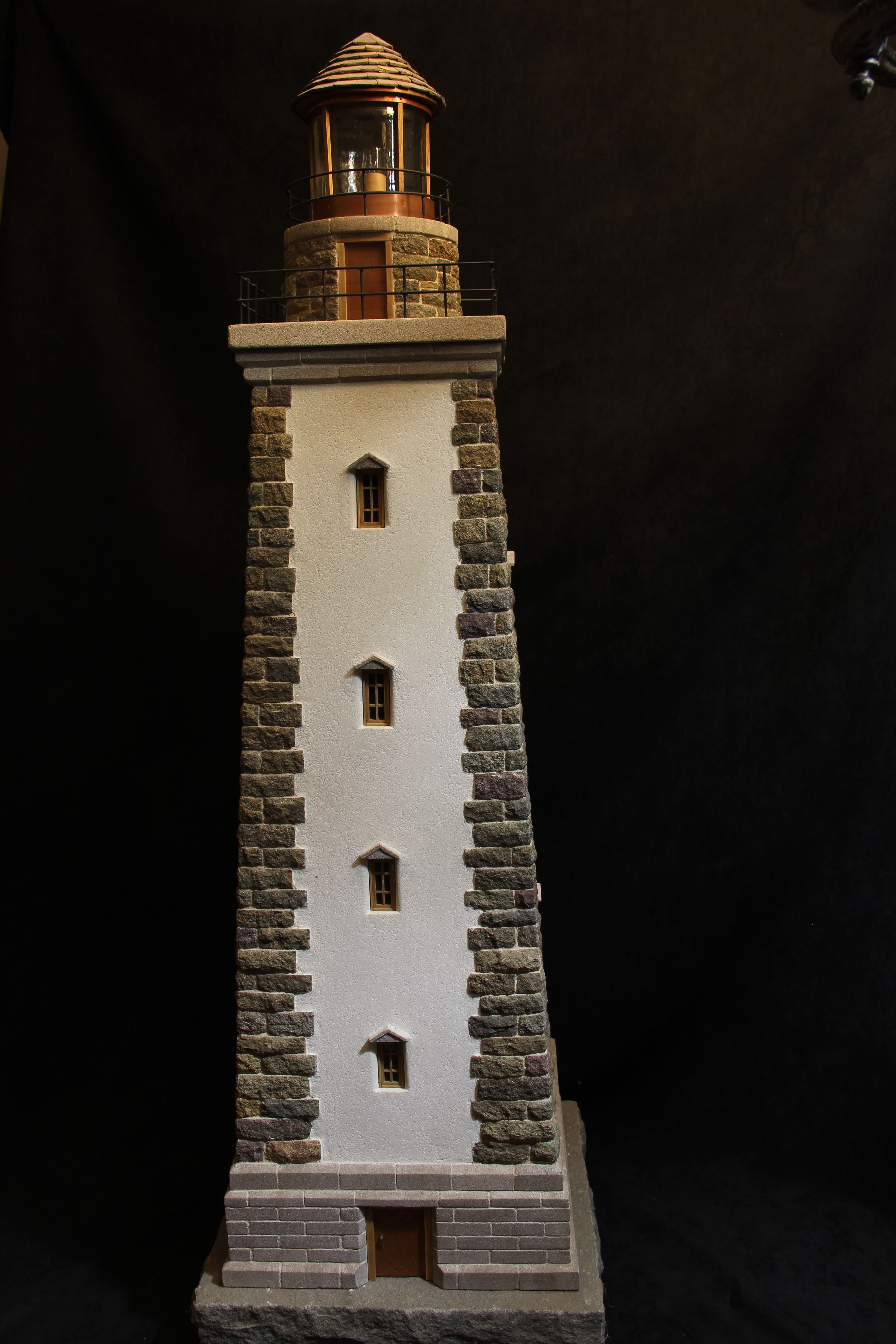 Amish crafted lighthouse light house lawn yard ornament wooden miniature stone lighthouse sciox Image collections