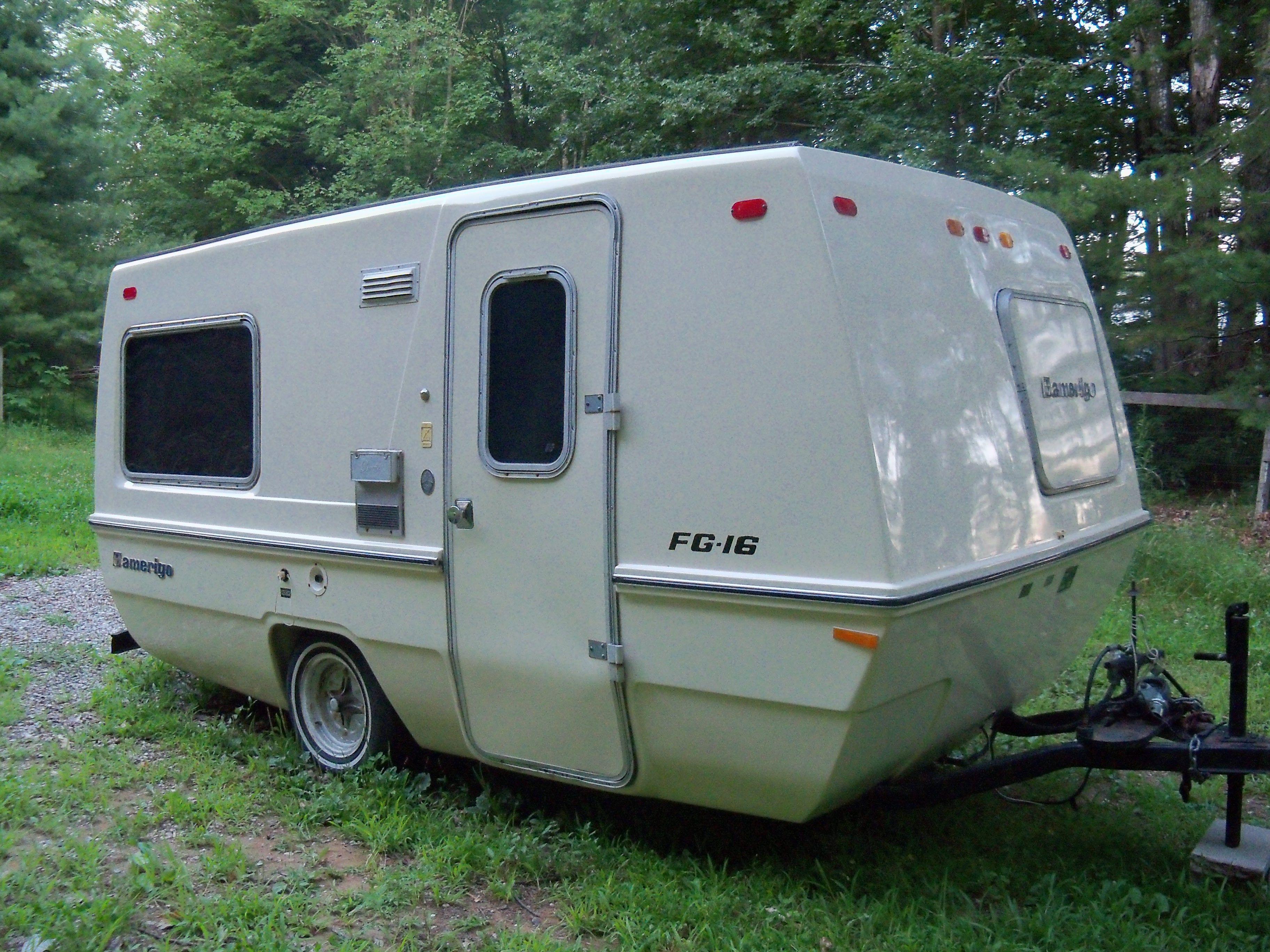 Love the little '72 Amerigo camper..it's fiberglass ...