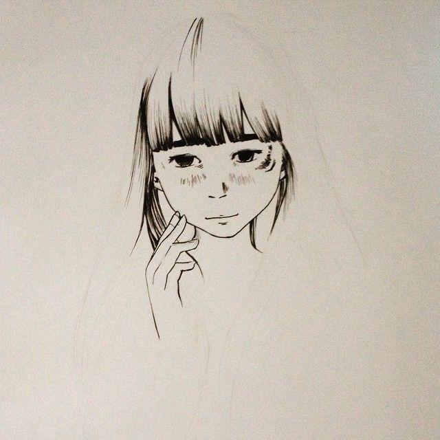 #aiko #wip #ink #draw #art #manga #oyasumi #punpun #OYASUMIPUNPUN #inioasano #cute #as #a #button by oyasumimaru