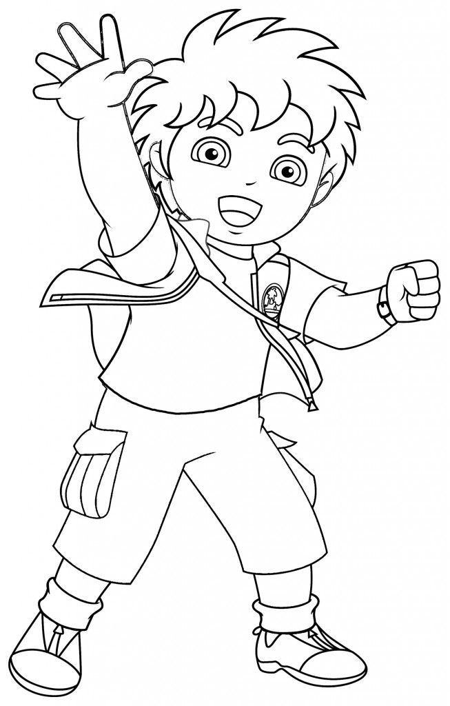 Coloring Free Printable Diego Pages For Kids With Dora Halloween Pagesdora Com Games
