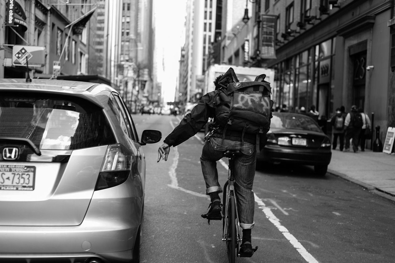 Bike snob nyc: once, twice, three times a rush: manifest density.