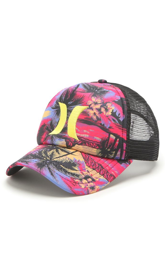 Hurley Floral Trucker Hat  da466cf72b6