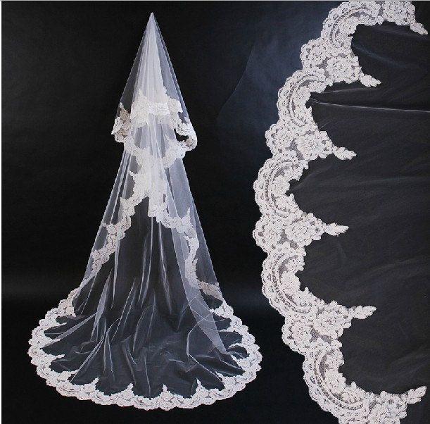 lace veil ivory lace veil lace veil wedding bridal by okbridal, $98.00