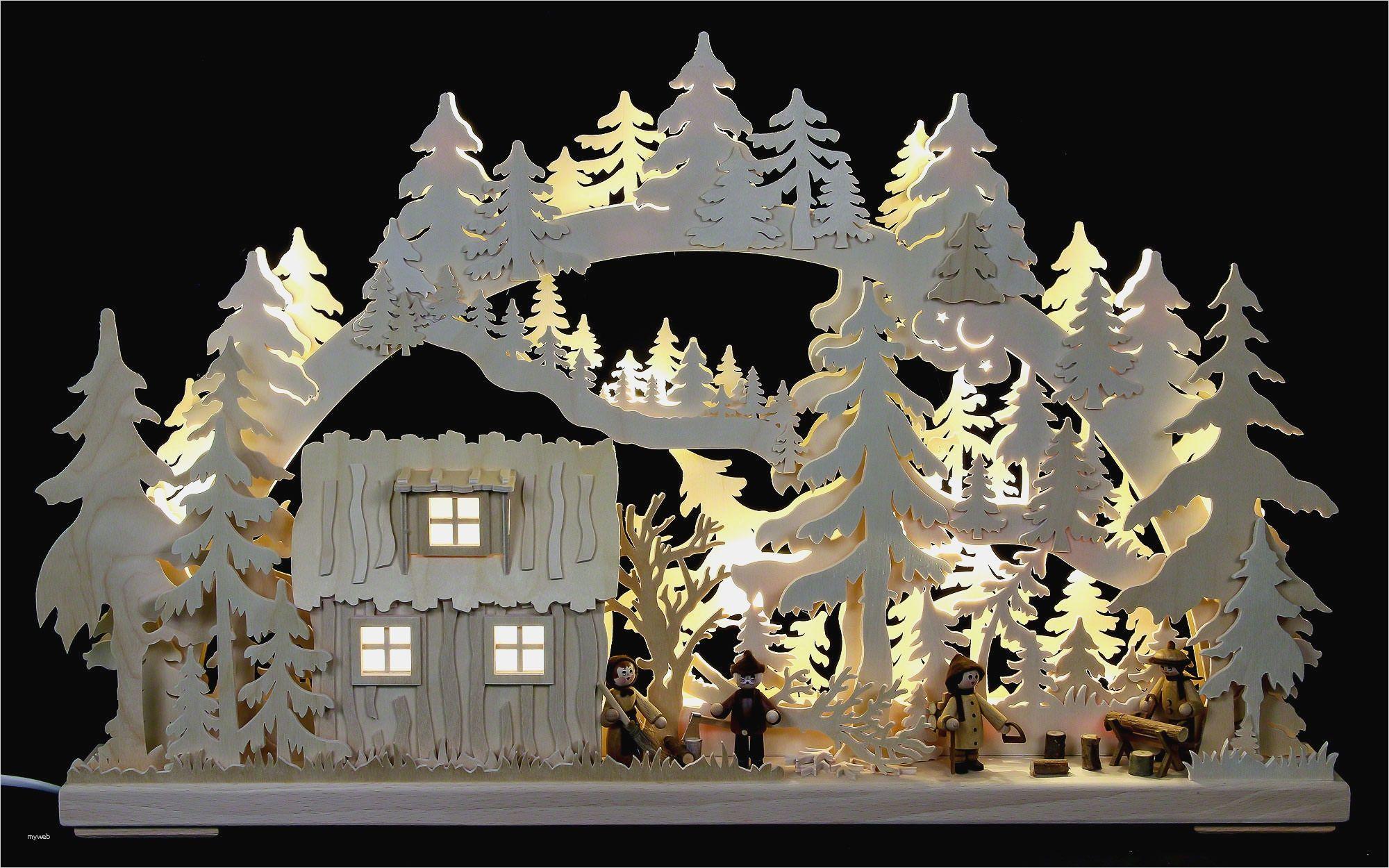 3D LEDS Schwibbogen Lichterbogen Erzgebirgische Weihnacht Tradition Häus