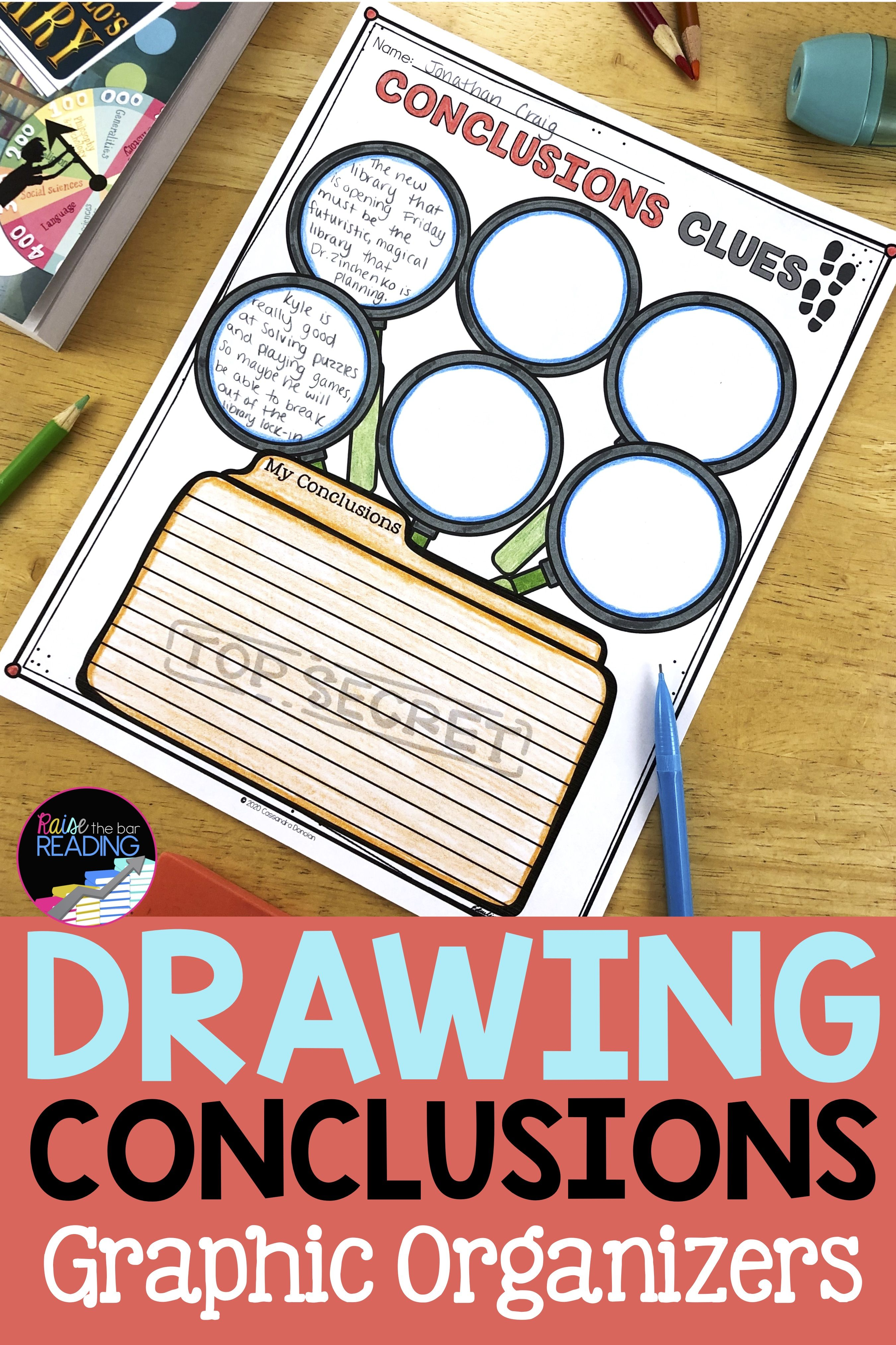 Drawing Conclusions Poster Graphic Organizers Amp Drawing