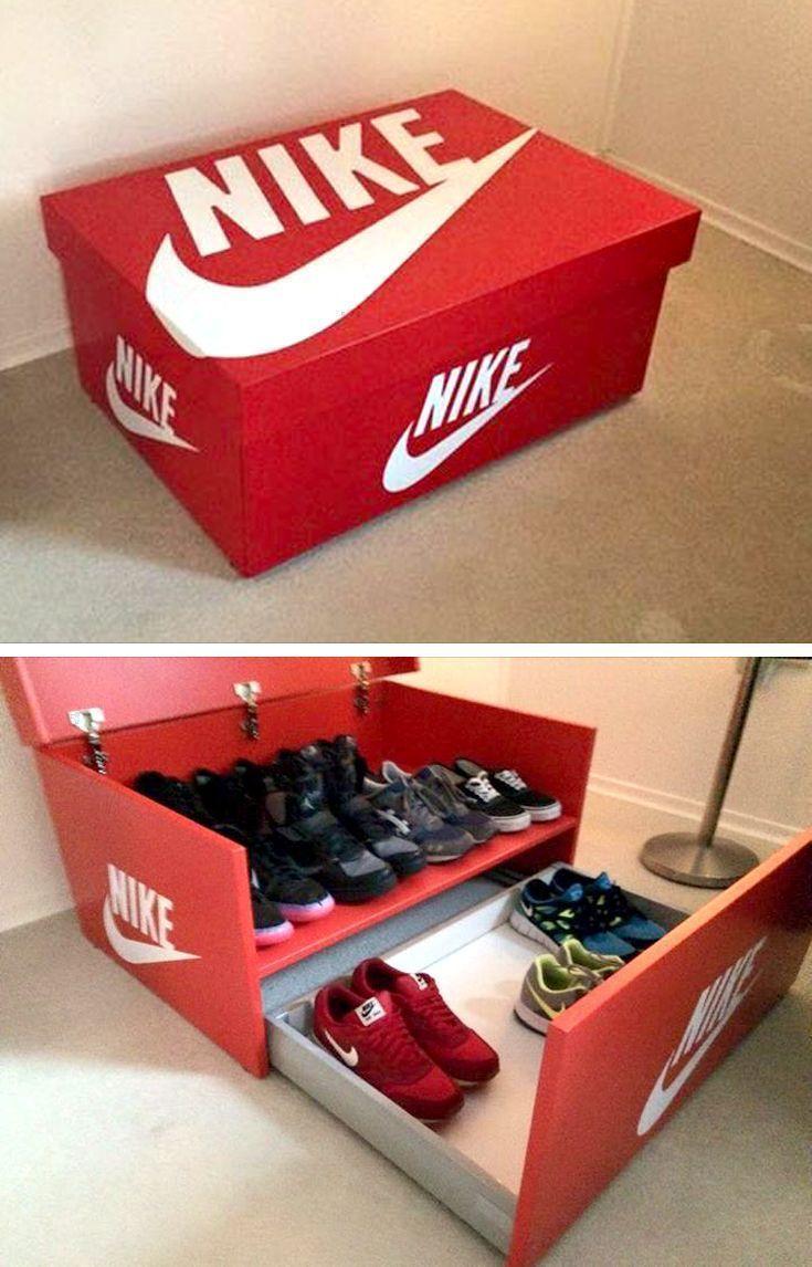 Nike Shoe Bench Shoe Box FULLY ASSEMBLED Shoe Storage   Etsy